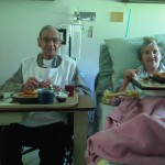 Mom and Dad in Lanigan Hospital